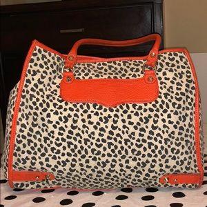 Rebecca Minkoff Leopard Print Canvas & Leather Bag